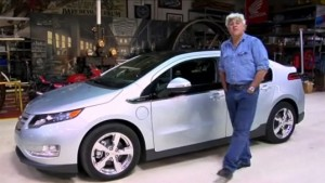 Jay Leno and his Chevy Volt
